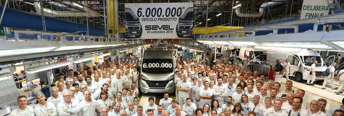Six million vehicles for Fiat Pro at Sevel, the Ducato plant